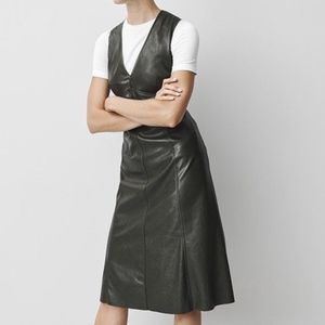 PROLOGUE Deep Sea Green Faux Leather Midi Dress